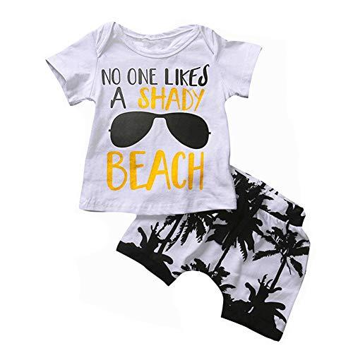 SANMIO Kinder Jungen Sommer Outfits Kurzarm T-Shirt und Shorts Sets 1-6 Kleinkind