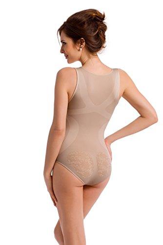envie Shapewear Body figurformend, Blumenmuster Ecru