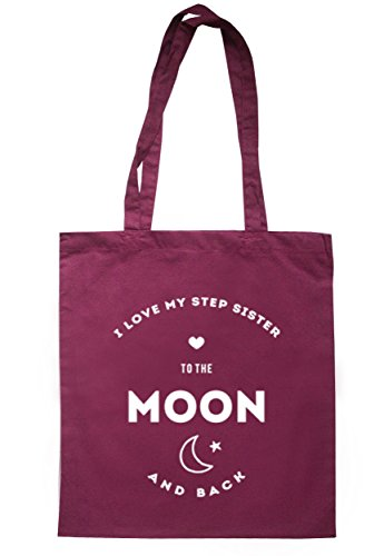 breadandbutterthreads i love my passo Sister to the Moon and Back Borsa 37,5 cm x 42 cm con manici lunghi Maroon