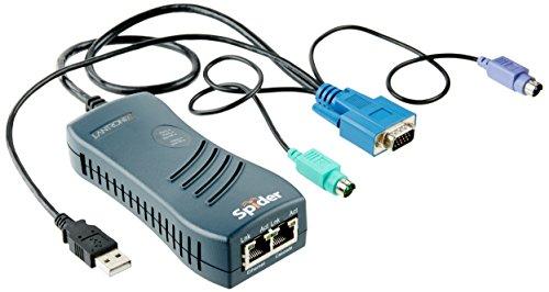 Lantronix Spider KVM über IP, PS/2, USB, VGA, virtual Media mit 50cm Kabel, 2x Ethernet -
