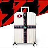 ZLQF Cinghia Regolabile per Valigia Bagaglio con TSA + Codice di Sicurezza a 3 Cifre,2pcs,C