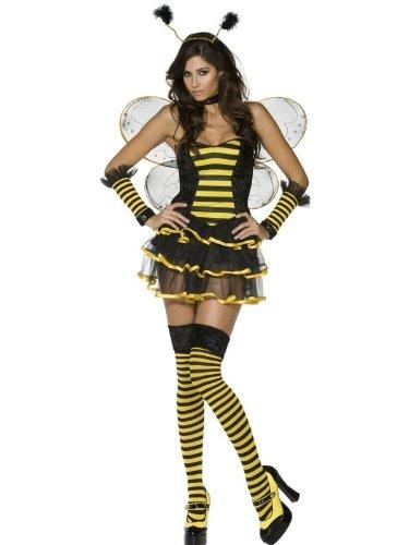 Biene Sexy Kostüme Damen (Sexy Bienenkostüm Kostüm Biene Tierkostüm 9-tlg. Gr. 36/38 (S), 40/42 (M), 44/46 (L),)