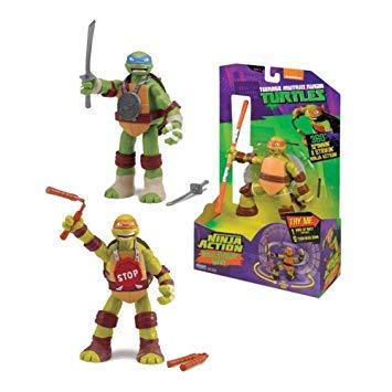 Tortugas Ninja - TMNT Figura de acción de Leonardo (Giochi Preziosi 91621)