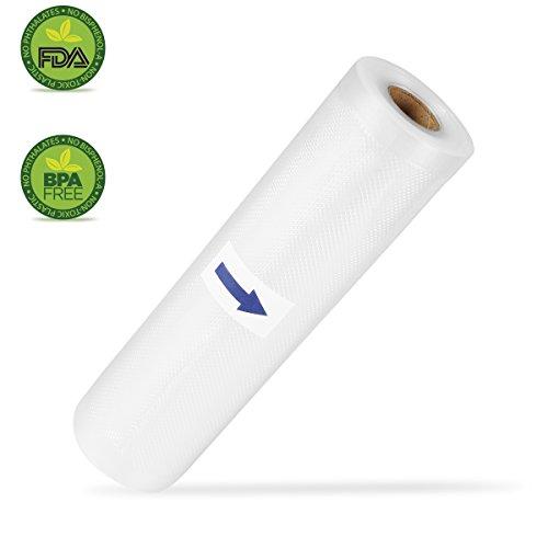 Vakuumiergerät Profi- Folienrollen, Vakuumierer geeignet für alle Vakuumiergeräte 20cm x 15m / 1 Rollen / Kochfest - Mikrowellen geeignet and Sous Vide- Sous Vide geeignet