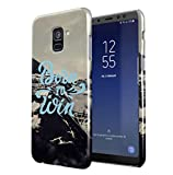 Maceste Born To Win Icy Mountains Compatible with Samsung Galaxy A8 2018 SnapOn Hard Plastic Phone Protective Case Cover