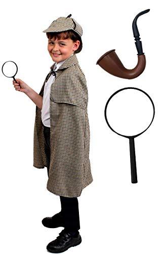 Billig Childrens Fancy Dress - ILOVEFANCYDRESS Sherlock Holmes Deluxe KOSTÜM