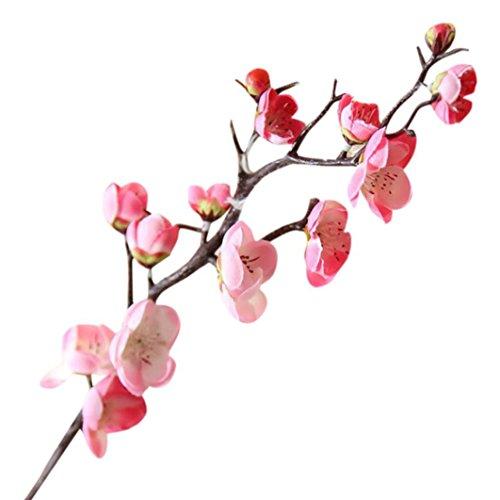 Plum blossom flores seda artificial Sannysis ramos