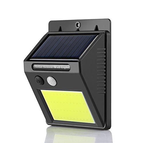 Winbang Wandleuchte, 48 LED-Solar-Sensor, PIR-Bewegungsmelder, Wandleuchte, Sicherheits-Nachtlicht, wasserdicht, IP65, automatische Einschaltfunktion bei Nacht, für den Außenbereich, Garten, Hof, Wand, Terrasse, Trittstufen
