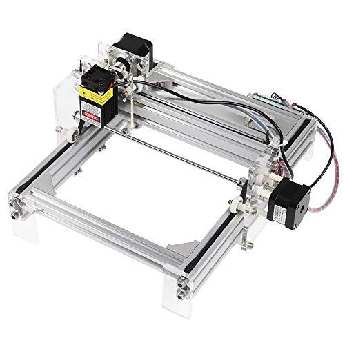 HUKOER 20 X 17cm Laser Graviermaschine DIY Kit, Carving Instrument CNC Laser Engraver Kits Desktop Holz Cutter für Holz, Kunststoff, Papier, Leder (2500mW)