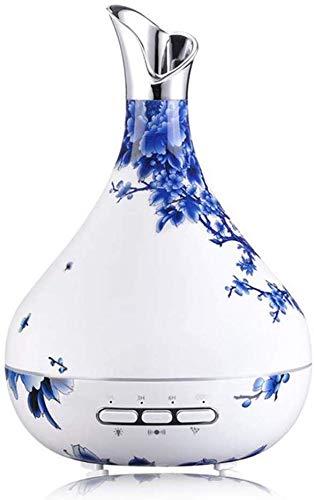 600 ml Difusor de aceites esenciales, aromaterapia niebla fresca Aroma Difusor de aceite esencial, Whisper...