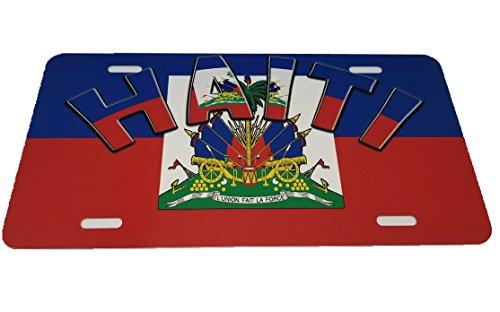 BUNFIREs Haiti haitianischen Flagge 15,2x 30,5cm Aluminium Metall Neuheit Auto License Plate Tag