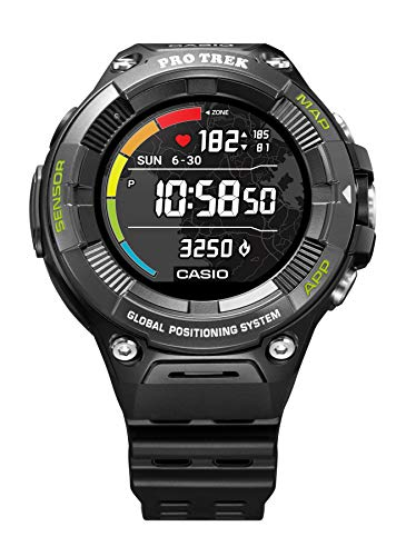 CASIO-PRO-TREK-SMART-WSD-F21HR-BKAGE-Smartwatch-Men-Black-2019-Pulsmessgert