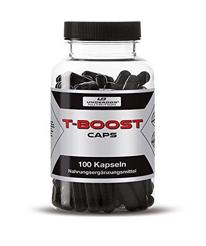 T-BOOST By Underdog Nutrition | 100 Pre Workout Booster Kapseln | Hochdosiert & Stark Wirkend | Tribulus Terrestris + Maca + Pfeffer Extrakt + Koffein