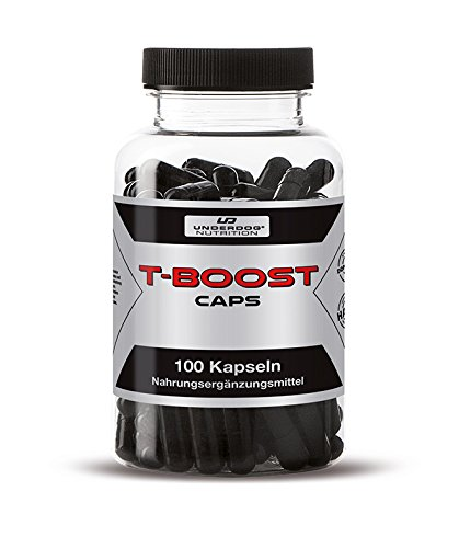 T-BOOST By Underdog Nutrition | 100 Muskelaufbau Pre Workout Booster Kapseln | Hochdosiert & Stark Wirkend | Tribulus Terrestris + Maca + Pfeffer Extrakt + Koffein