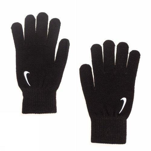 Nike Erwachsene Swoosh Knit Handschuhe, Black/White, L/XL