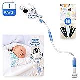 Baby Kamera Halterung von CalMyotis, Universal Baby Monitor Halter,babyphone, Regal Flexible Kamera, Kompatibel mit den meisten Baby Kameras Oder Sprechanlagen, Auch für Mobiltelefone geeignet (Blau)