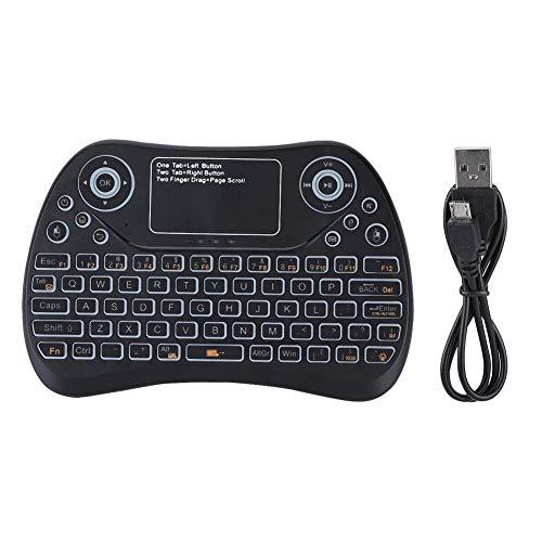 Garsent 2.4G Wireless Keyboard Bluetooth3.0 Mini Tastatur Fernbedienung mit Touchpad für IOS/Android/PC, Smart TV