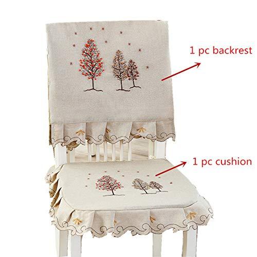Twtiq tovaglia da ricamo in cotone per albero di natale tovaglia in lino in cotone copridivano lavabile in stile europeo tovaglia per tavolo da tè 1 set schienale e cuscino