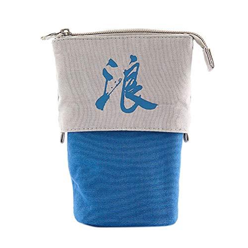 agerung FedermäPpchen Box Einzigartiges Design Teleskop Bleistift Tasche Schreibwaren Box, Zylindrisch Mit Chinesischen Wort Gedruckt Box FüR SchüLer ()