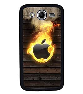 Fuson Premium 2D Back Case Cover Burning Apple With Multi Background Degined For Samsung Galaxy Mega 5.8 i9150::Samsung Galaxy Mega 5.8 i9152