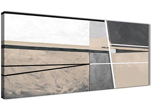 Wallfillers - Lienzo Decorativo para Pared, diseño Abstracto, Color Beige, Crema, Gris, 1394-120 cm
