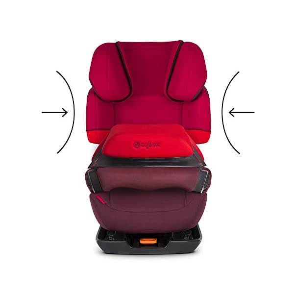 CYBEX Silver Pallas-Fix 2-in-1 Child's Car Seat, For Cars with and without ISOFIX, Group 1/2/3 (9-36 kg), From approx. 9 Months to approx. 12 Years, Rumba Red Cybex Sturdy and high-quality child car seat for long-term use - For children aged approx. 9 months to approx. 12 years (9-36 kg), Suitable for cars with and without ISOFIX Maximum safety - Depth-adjustable impact shield, 3-way adjustable reclining headrest, Built-in side impact protection (L.S.P. System) 11-way height-adjustable comfort headrest, One-hand adjustable reclining position, Easy conversion to Solution X-Fix for children from 3 years (group 2/3) by removing impact shield and base, Adjustable backrest 4