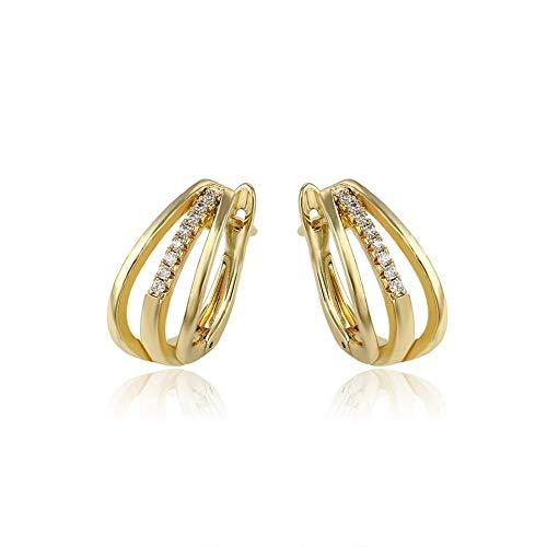 ZHWM Ohrringe Ohrstecker Ohrhänger Mode Elegante Ohrringe Licht Gold Farbe Überzogen Top Sales Schmuck Für Frauen