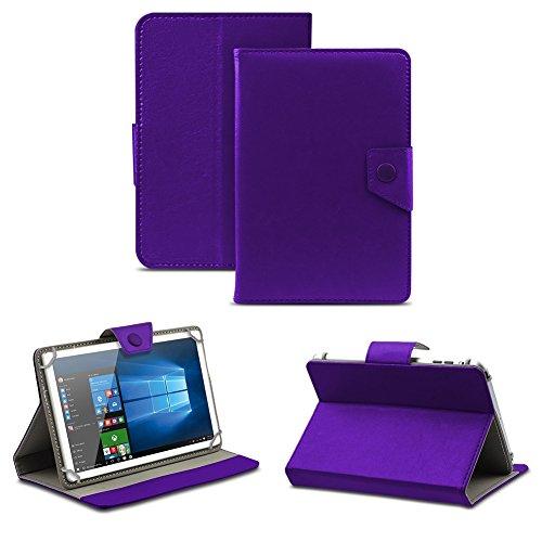 NAUC Universal Tasche Schutz Hülle Tablet Schutzhülle Tab Case Cover Bag Etui 10 Zoll, Farben:Lila mit Magnetverschluss, Tablet Modell für:Allview Wi10N Pro 10.1