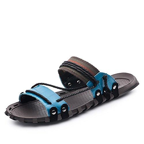 Xing Lin Chaussures DÉté Hommes LÉté, Hommes Sandales Pour _ Mot Chaussons Grande Taille Nouveau Sandales Hommes Sandales XGZ7552 blue