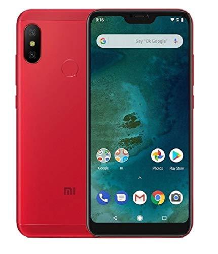 """Xiaomi MI A2 - Smartphone de 5.9"""" (Qualcomm Snapdragon 660 a 2.2 GHz, RAM de 4 GB, Memoria de 64 GB, cámara Dual de 12/20 MP, Android) Color Rojo[Versión española]"""