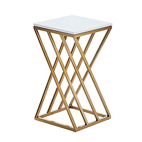 JDJFDKSFH Blumenständer Metall Freistehende Pflanze Stehen Outdoor Marmor Blumenregal Indoor Gold Dekoration-B -