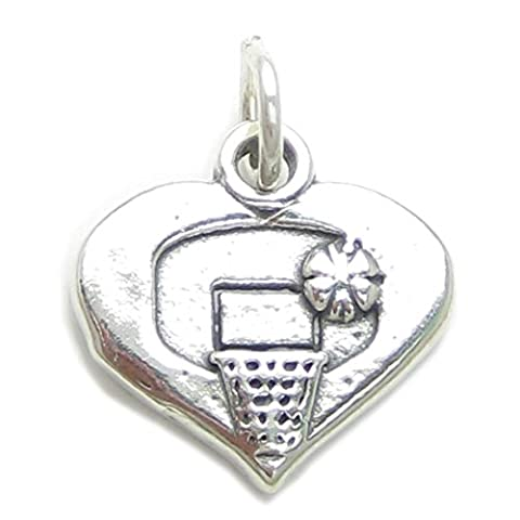 Basketball sterling silver charm .925 x 1 Sports and Basket Ball charms CF2354