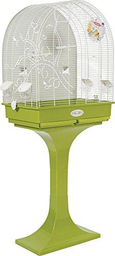 Zolux Anna su Piede Gabbia con Fondo in Metallo per Uccello Esotico/Parakeet Tortora 68,5x 36x 135cm