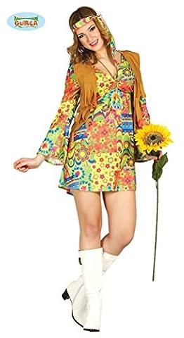 süßes Hippie Kostüm für Damen Gr. XS/S und M, Größe:M