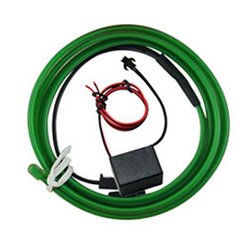 joizo 3m Neon Glowing Strobing Elektrolumineszenzdraht EL-Draht-Kabel für Cosplay Kleid Festival Halloween-Weihnachtsfest Karneval Auto Dekoration + 1-Energien-Inverter-grün