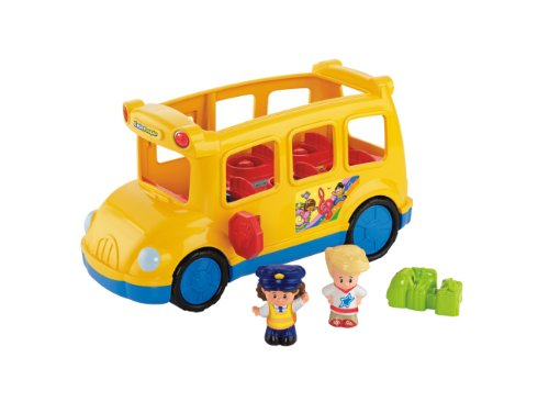People-spielzeug-bus Little (Mattel BJT48 - Fisher-Price Little People Schulbus, inklusive 2 Figuren)