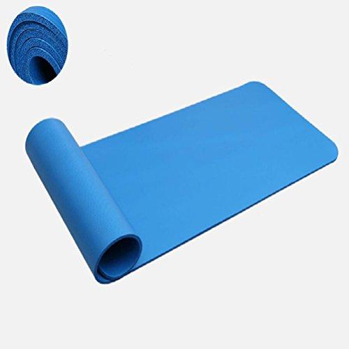 NBR Protection De l'environnement Tapis De Yoga épaissi élargi Anti-dérapant Tapis De Yoga Double Tapis De Yoga 185 Cm X 120 Cm X 10 Mm,Blue