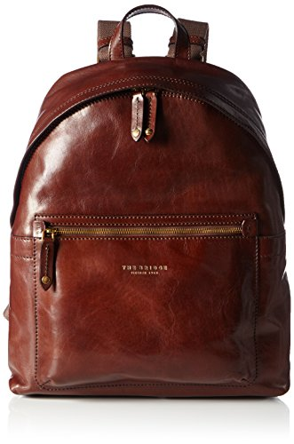 The Bridge  Sfoderata Lux Uomo, Zaino Casual  Uomo Marrone Braun (Brown 14) 31x42x12 cm (B x H x T)
