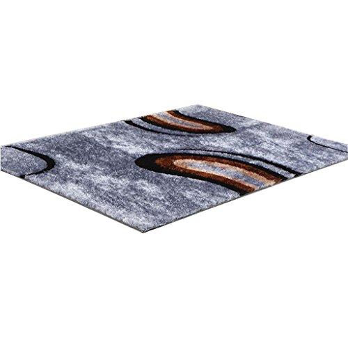 CYALZ Polyester Blau Braun Blumenmuster Modern Einfach Stripe Style Home Textilien Türsprechanlage...