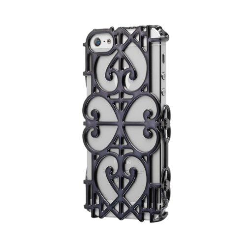 Case Scenario Custodia Giovanna Battaglia iPhone 5/5S Cover Black Gate, Bianco/Nero