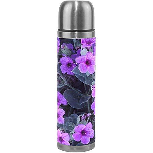 Borraccia I Tanti significati Rose Viaggio Bottiglie di Acqua Isolate in Acciaio Inossidabile Thermos a Doppia Parete Copertura in Pelle 17 oz (500 ml)