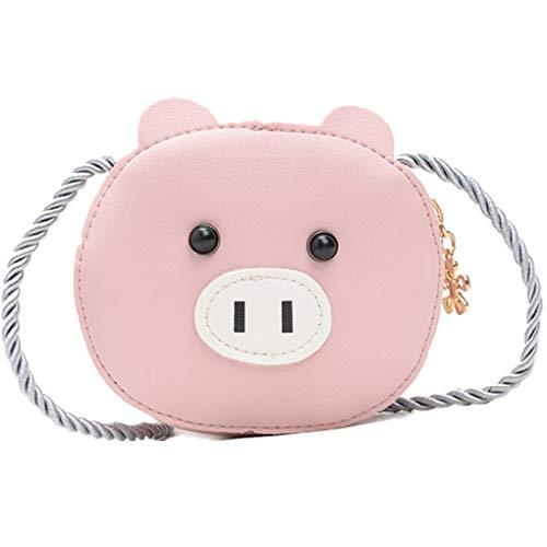 Dorical Kindergarten-Tasche Kleinkinder Süß Cartoon Animal Kleine Tasche Umhängetasche,Crossbody Casual Geldbörse Verstellbar für Jungen und Mädchen 2-7 Jahr(Rosa)