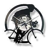 Disc'O'Clock Orologio in Vinile da Parete Lp 33 Giri Silenzioso Bicycle Race - Idea Regalo A Tema Ciclismo