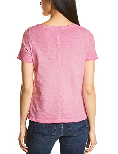 Street One Damen T-Shirt Mehrfarbig (Flamingo Pink 31272)