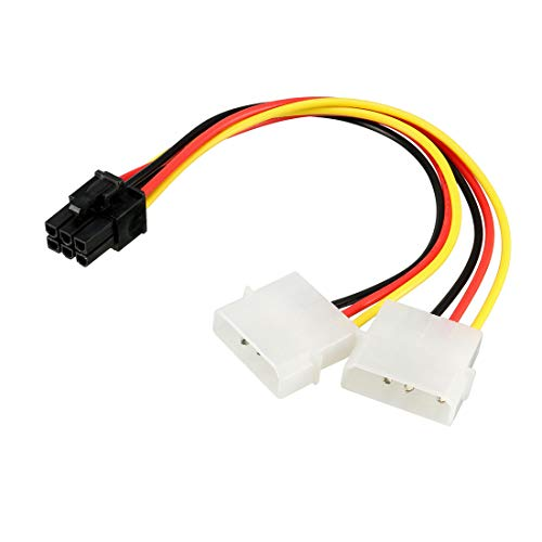 4 mit 6 Pin PCIE PCI Express Video Karte Kraft Kabel Adapter 20cm DE de ()