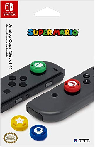 Hori Cover Stick Analogici Joy Con Super Mario Nintendo Switch