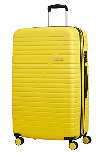 American Tourister Aero Racer Spinner 79 Expandable - 4.6 Kg Bagaglio a Mano 115 Liters, Giallo (Lemon Yellow)