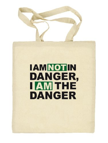 Shirtstreet24, I AM NOT IN DANGER, Natur Stoffbeutel Jute Tasche (ONE SIZE) Natur