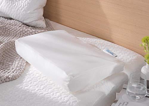 Theraline Pearlfusion orthopädisches Schlaf- & Nackenstützkissen, Standardbreite 50 cm | Höhe 14 cm | inkl. Außenbezug Dessin Nr. 20, weiß
