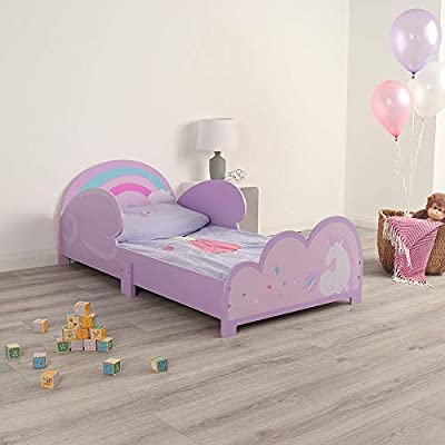 Wido Kids Unicorn Bed Toddler Wooden Frame For Mattress Size 140x70cm Junior Children's Theme Bedroom